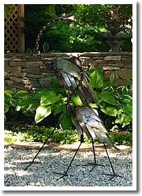 metal herons
