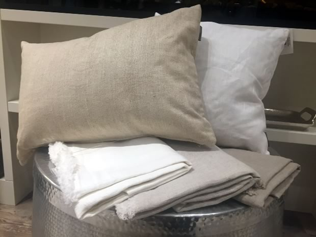 Linen Pillows And Tea Towels